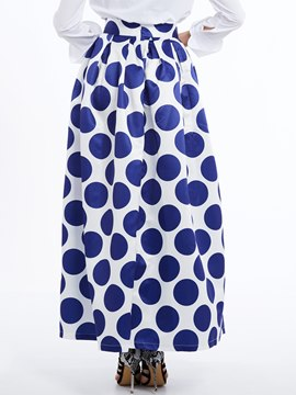 Ericdress Polka Dots Expansion Long Skirt
