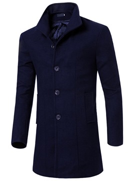 Ericdress Long Slim Men's Woolen Coat