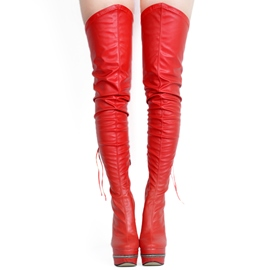 Ericdress Red Ultra-High Heel Over-the-Knee Boots