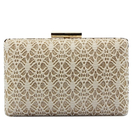 Ericdress Sweet Shiny Lace Decorated Evening Clutch
