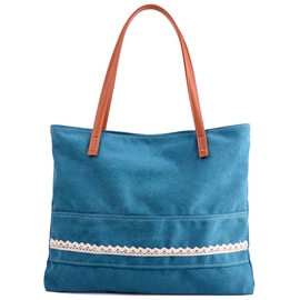 Ericdress Versatile Lace Applique Canvas Tote Bag