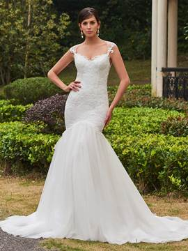 Ericdress Classic Appliques Sweetheart Mermaid Wedding Dress