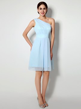 Ericdress Classic One SHoulder Chiffon Bridesmaid Dress