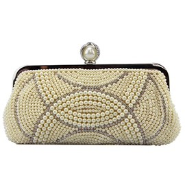 Ericdress Sweet Ladylike Beaded Embroidery Evening Clutch