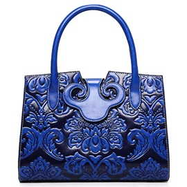 Ericdress Exotic Floral Embossed Rectangle Handbag