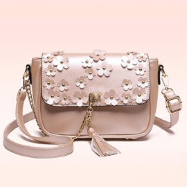 Ericdress Classic Floral Applique Crossbody Bag