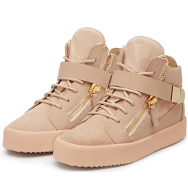 Ericdress Pink Round Toe High-Cut Upper Sneakers
