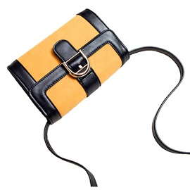 Ericdress Fashion Color Block PU Crossbody Bag