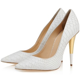 Ericdress Embossed Leather Pointed Toe Pumps