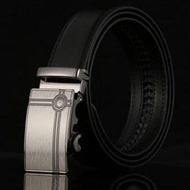 Ericdress Cowhide Leather Automatic Buckle Men's Belt