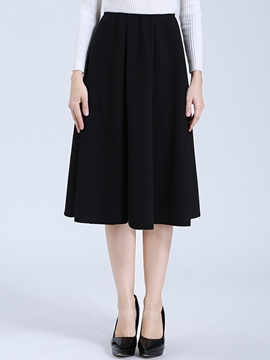 Ericdress Pleated High-Waist Usual Skirt