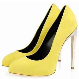 Ericdress Candy Color Round Toe Ultra-High Heel Pumps