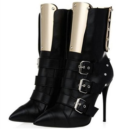 Ericdress Pointed Toe Rivets Stiletto Heel Boots