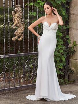 Ericdress Classic Sweetheart Appliques Beaded Mermaid Wedding Dress