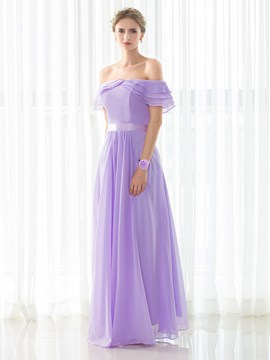Ericdress Elegant Off The Shoulder A Line Long Bridesmaid Dress