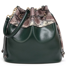 Ericdress Classic Serpentine Pattern Bucket Shoulder Bag