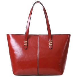 Ericdress Vogue Waxy Leather Shopping Handbag