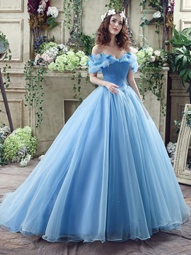 Ericdress Elegant Off The Shoulder Ball Gown Princess Wedding Dress