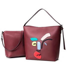 Ericdress Casual Cartoon Applique Handbags(2 Bags)