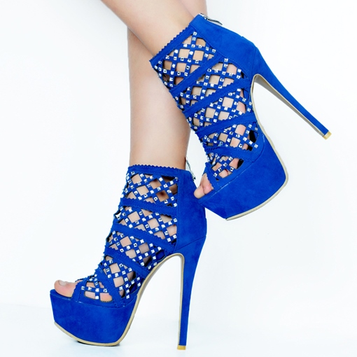 Ericdress Rhinestone Peep Toe Ultra-High Stiletto Sandals