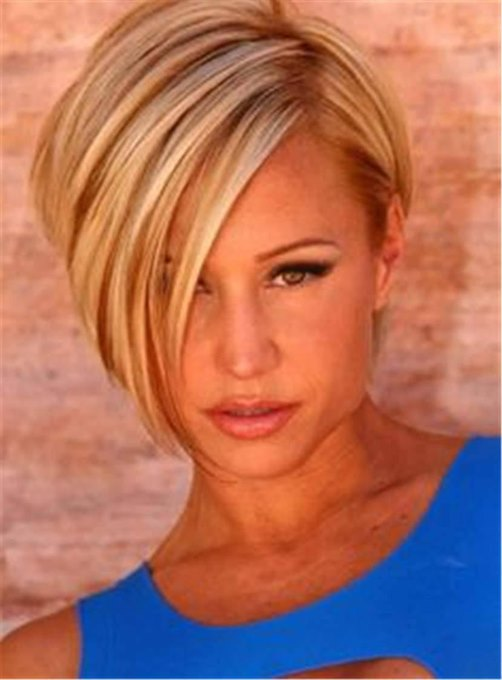 Ericdress Short Straight Side Part Synthetic Hair Capless Wig 10 Inches