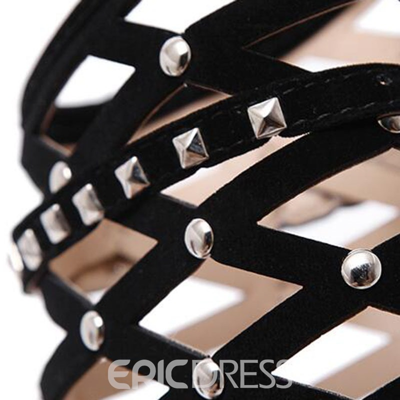 Ericdress Popular Cut Out Rivets Decorated Stiletto Sandals
