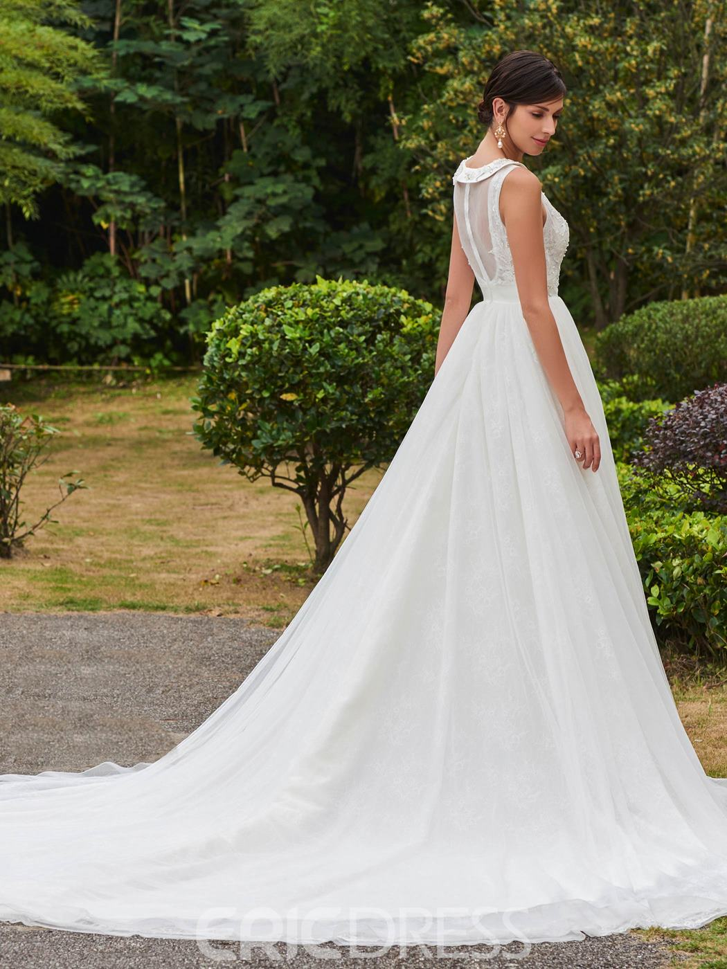 Ericdress Sweet Beaded A Line Wedding Dress