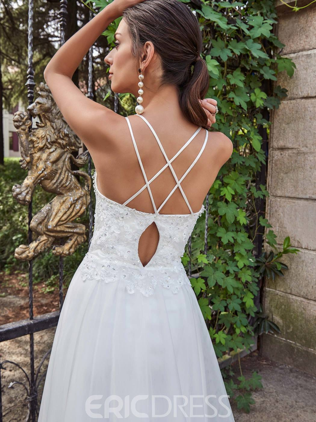 Ericdress Comfortable Spaghetti Straps A Line Wedding Dress