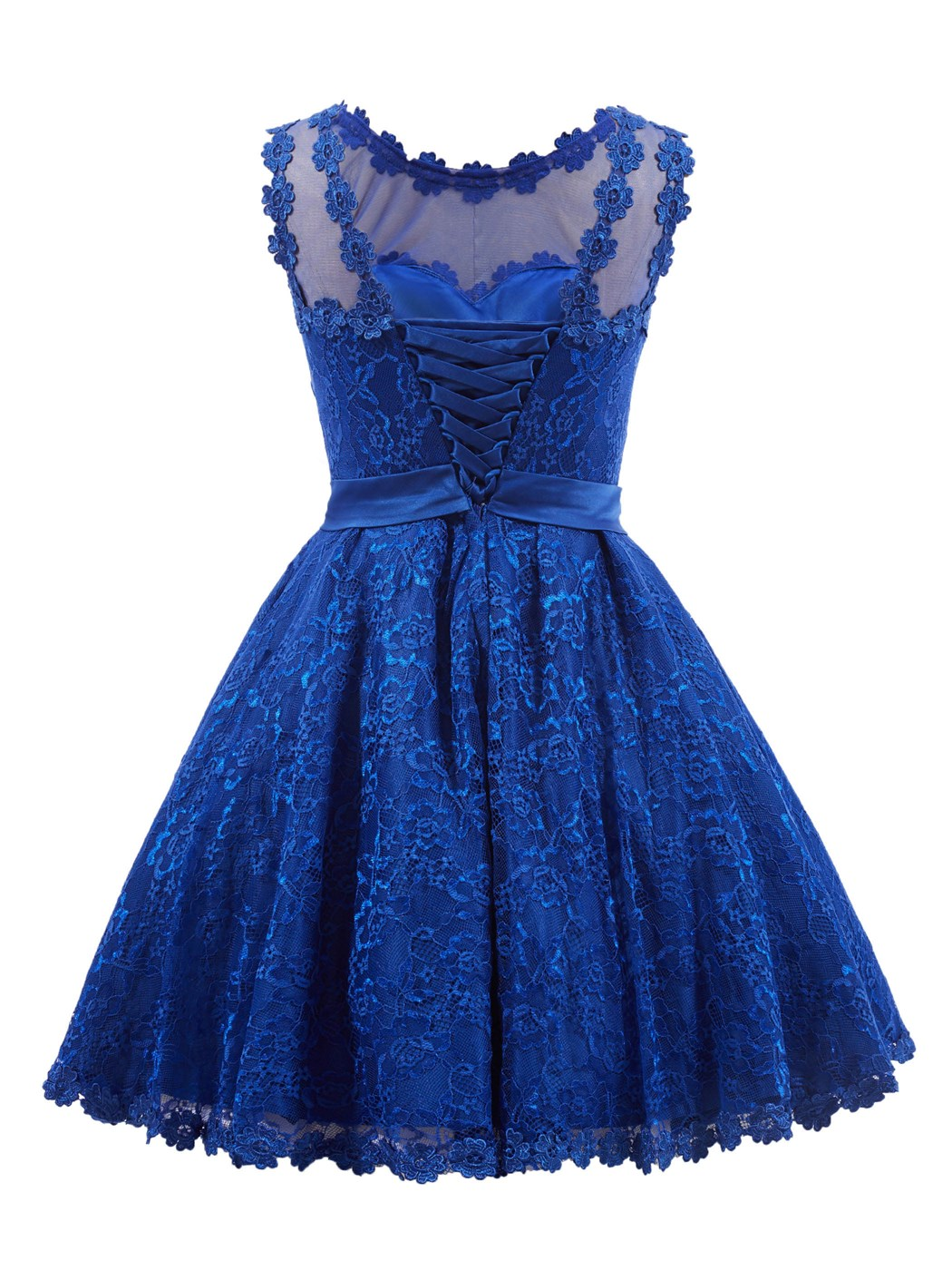Ericdress Sweet A ligne dentelle Bowknot court/Mini Little Party Dress