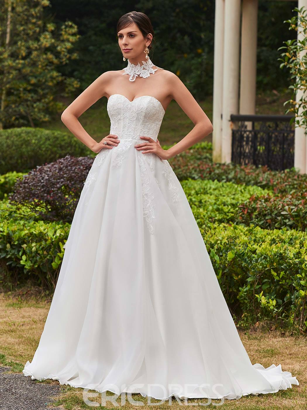 Ericdress Comfortable Sweetheart Appliques A Line Wedding Dress