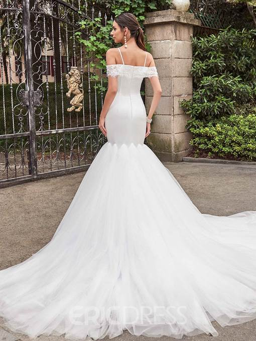 Ericdress Charming Off The Shoulder Mermaid Wedding Dress