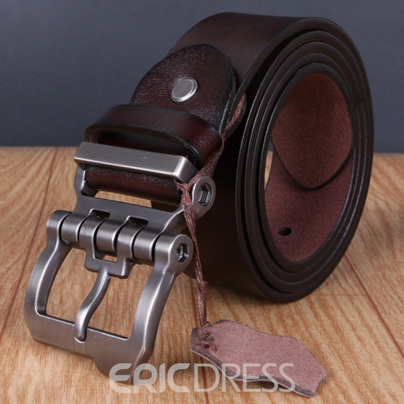 Ericdress Vintage Cowhide Leather Men's Belt
