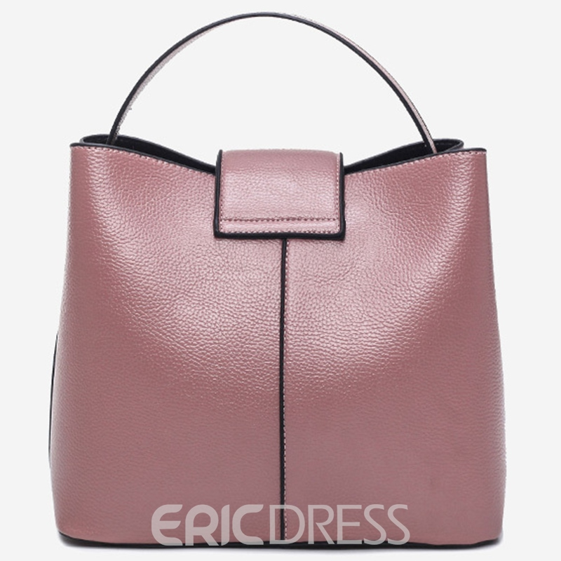 Ericdress Soft Plain Pattern Bucket Handbag