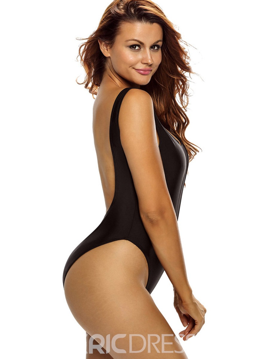 Ericdress Sexy See-Through Mesh U-Neck Monokini