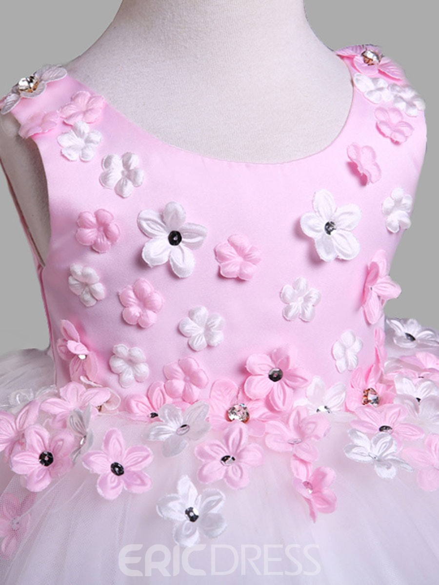 Ericdress Floral Appliques Girls Tutu Dress