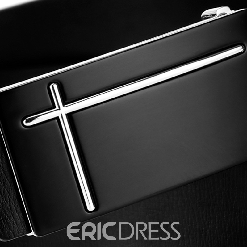 Ericdress Genuine Leather Smooth Buckle for Busines Men