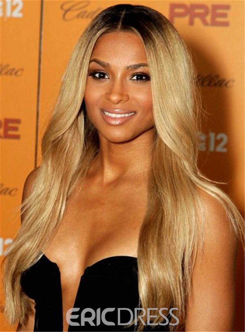 Ericdress Ciara Hairstyles Long Wavy Cut Human Hair Lace Front Wig 24 Inches