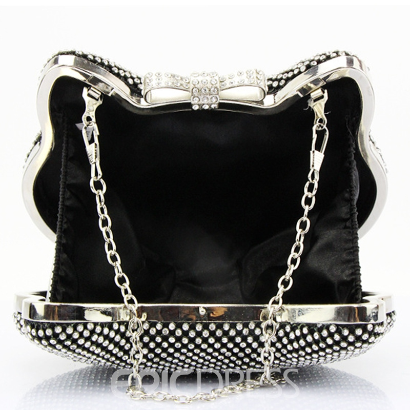 Ericdress Shiny Diamante Cat Shape Evening Clutch