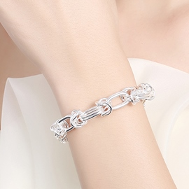 Ericdress Classic Silver Plated Chain Bracelet