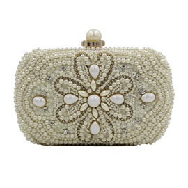 Ericdress High Grade Pearl Beaded Embroidery Evening Clutch