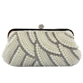 Ericdress Modern Pearl Rhinestone Decorated Evening Clutch