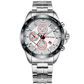 Ericdress Steel Band Concise Glass Surface Men's Watch