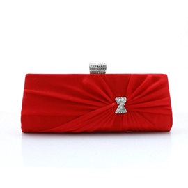 Ericdress Charming Rhinestone Bowknot Wrinkle Evening Clutch