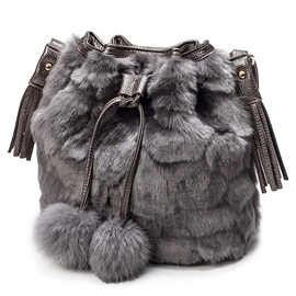 Ericdress Tassel Decorated Fuzzy Draw String Shoulder Bag