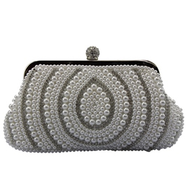 Ericdress Temperament Water Drop Beaded Evening Clutch