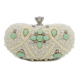 Ericdress Upscale Oval Colorful Beaded Evening Clutch