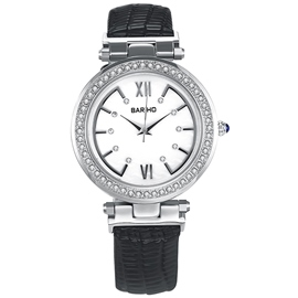 Ericdress ronda Diamante Dial banda Black Watch de Women