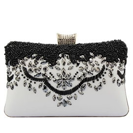 Ericdress Temperament Beaded Floral Embroidery Evening Clutch