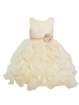 Ericdress Color Block Asymmetrical Girls Princess Dress