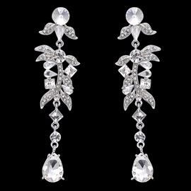 Ericdress Crystal Leaves Design Alloy Earrings